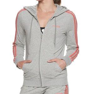 Women's Adidas Essential 3 Stripes Full Zip Jacket